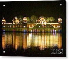 Jal Palace At Night Acrylic Print