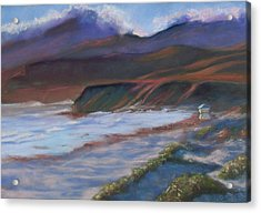 Jalama Beach At Sunset Acrylic Print by Laurie Paci