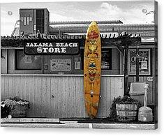 Jalama Beach Store Acrylic Print by Ron Regalado