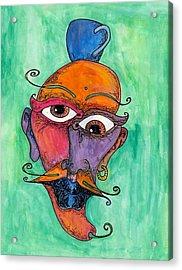 Jalepeno Face Acrylic Print by Jessica Kauffman