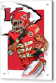 Jamaal Charles Kansas City Chiefs Oil Art Acrylic Print