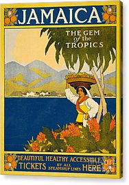 Jamaica  Vintage Travel Poster Acrylic Print by American School