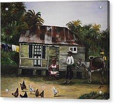 Jamaican Homestead Acrylic Print by Kim Selig