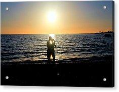Jamaican Sunset Kiss By Steve Ellenburg Acrylic Print by Steve Ellenburg