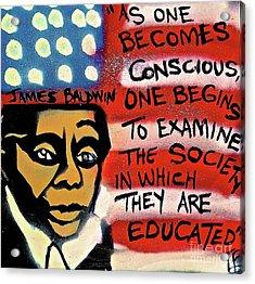 James Baldwin Conscious Acrylic Print