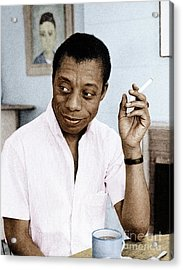 Acrylic Print featuring the photograph James Baldwin by Granger
