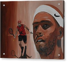 Acrylic Print featuring the painting James Blake by Quwatha Valentine