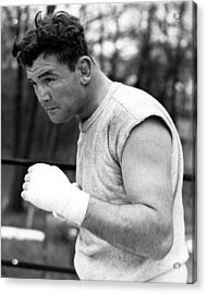 James Braddock In Training For Upcoming Acrylic Print by Everett