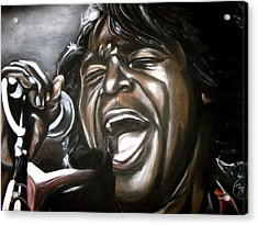 James Brown Acrylic Print by Zach Zwagil