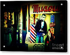 James Dean On Route 66 Acrylic Print by Susanne Van Hulst