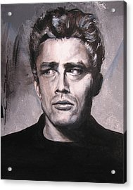 James Dean Two Acrylic Print by Eric Dee