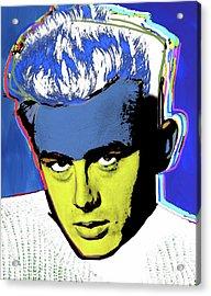 James Dean White By Nixo Acrylic Print