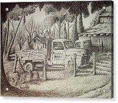 James Farm Acrylic Print by Chris Shepherd