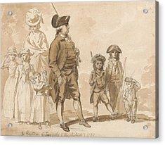 James Gandon And Family Acrylic Print by Paul Sandby