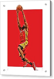 James Harden Houston Rockets Oil Art Acrylic Print by Joe Hamilton