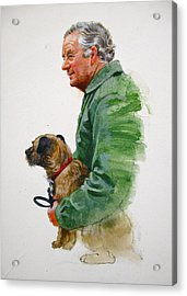 James Herriot And Bodie Acrylic Print