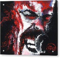 James Hetfield Acrylic Print by Brian Carlton