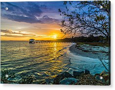 James Island Sunrise - Melton Peter Demetre Park Acrylic Print