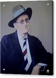 James Joyce Acrylic Print by Eamon Doyle