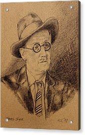 James Joyce Acrylic Print by John  Nolan