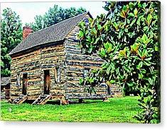 James K. Polk Boyhood Home Acrylic Print by Bob Pardue