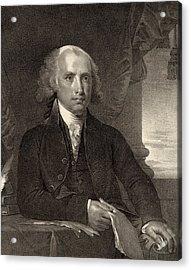 James Madison - Fourth President Of The United States Of America Acrylic Print by International  Images