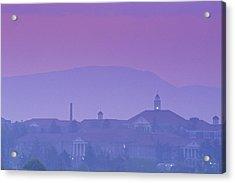 James Madison University At Dusk Acrylic Print by Kenneth Garrett