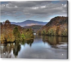 James River 1 Acrylic Print by Michael Edwards