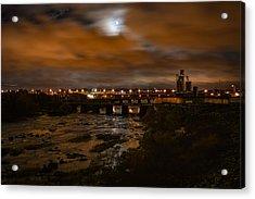 James River At Night Acrylic Print