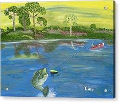 James River Bass Acrylic Print by Edwin Long