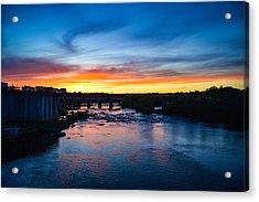 James River Sunset Acrylic Print