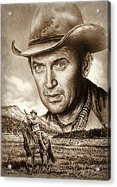 James Stewart The Far Country Acrylic Print by Andrew Read