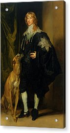 Acrylic Print featuring the painting James Stuart - Duke Of Richmond And Lennox                       by Anthony Van Dyck