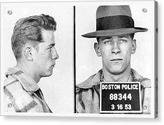 James Whitey Bulger Booking Photo 1953 Acrylic Print