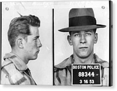 James Whitey Bulger Mug Shot 1953 Horizontal Acrylic Print