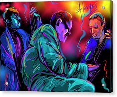 Acrylic Print featuring the painting Jamming With Oscar by DC Langer