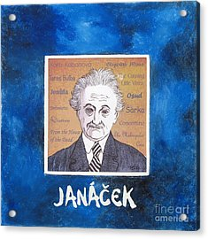 Janacek Acrylic Print by Paul Helm