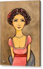 Jane Austen Acrylic Print by Ramey Guerra