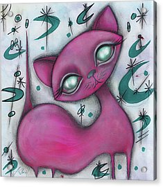 Jane Cat Acrylic Print by Abril Andrade Griffith