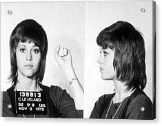 Jane Fonda Mug Shot Horizontal Acrylic Print