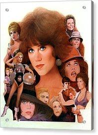 Jane Fonda Tribute Acrylic Print by Bill Mather