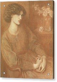 Jane Morris Acrylic Print by Dante Gabriel Charles Rossetti