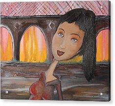 Jane Acrylic Print by Oscar Cielos