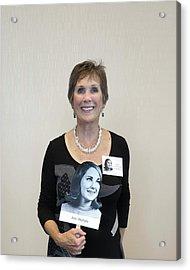 Acrylic Print featuring the digital art Jane Ouelette Fouchey by Ellen Barron O'Reilly