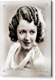 Janet Gaynor, Vintage Actress By John Springfield Acrylic Print