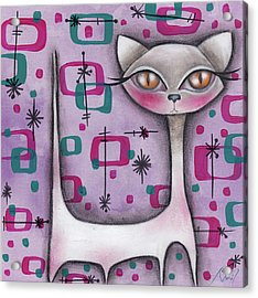 Janice Cat Acrylic Print by Abril Andrade Griffith