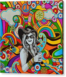 Acrylic Print featuring the painting Janis In Wonderland by Joseph Sonday