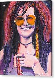Janis Joplin 2 Acrylic Print by Eric Dee