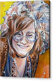 Janis Joplin Acrylic Print by Bryan Bustard