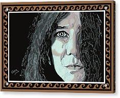 Janis Joplin Acrylic Print by Suzanne Gee